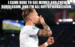 Chew bubblegum memes